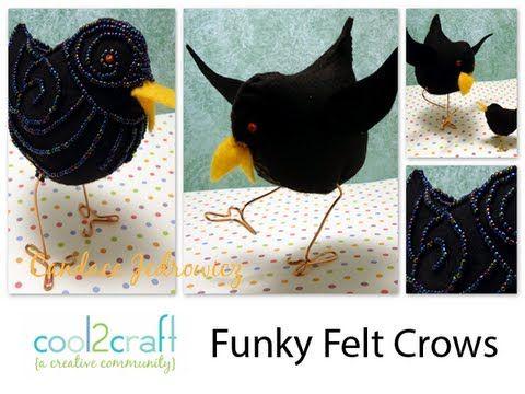 How to Make a Funky Felt Crow | Fieltro