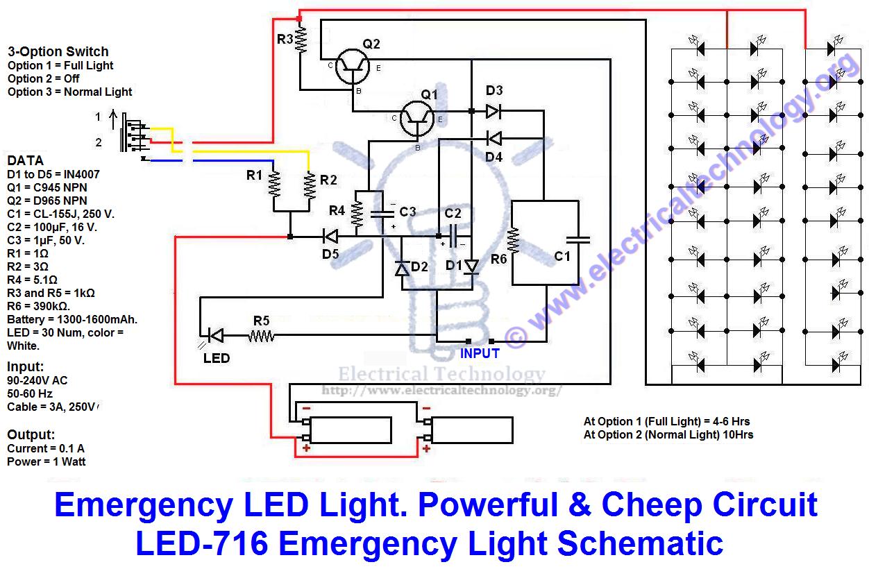 Emergency Led Light Powerful Cheep Circuit Led 716