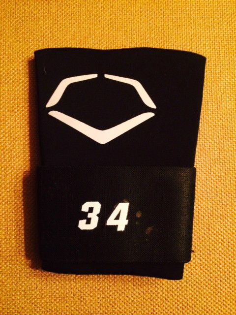 finest selection 00ad5 aa8eb washington byrce harper  34 game used authentic  MLB evoshield wrist strap  from  75.0