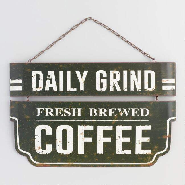 Küchenschilder Daily Grind Coffee Metal Sign (with Images) | Office ...