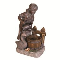 @Overstock - This beautiful Genevieve fountain features a lovely Envirostone construction in a natural grey color with warm patina weathering. As the sound of falling water fills your garden, so too will the charm of yesteryear.http://www.overstock.com/Home-Garden/Genevieve-Outdoor-Grey-Fountain/5946839/product.html?CID=214117 $129.05