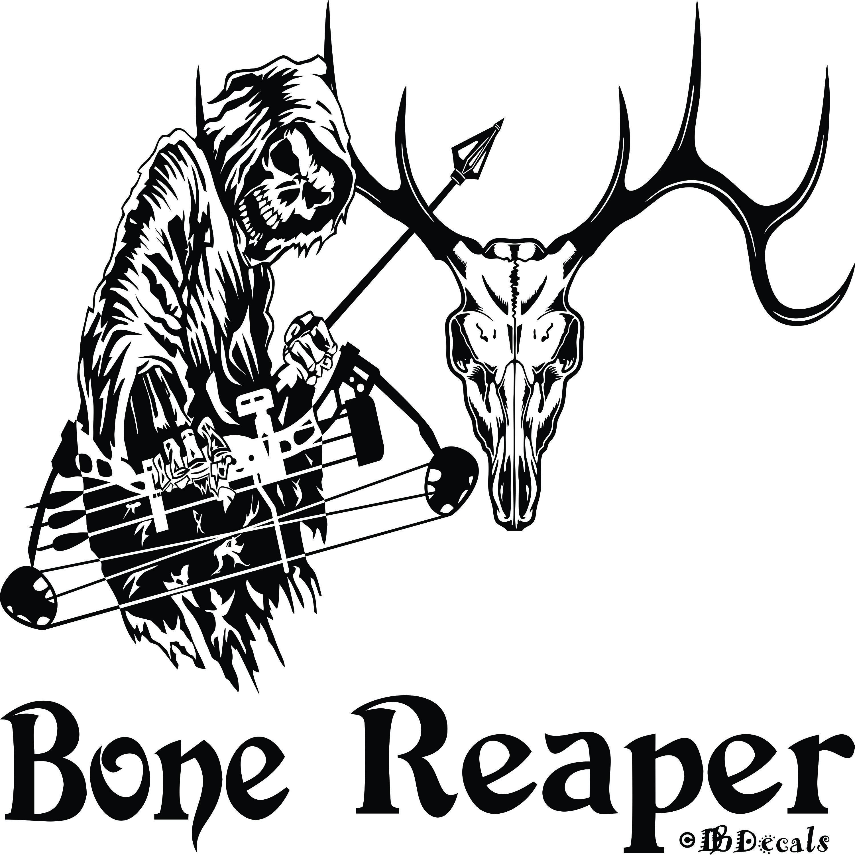Details About Grim Reaper Bow Hunter Deer Skull Hunting
