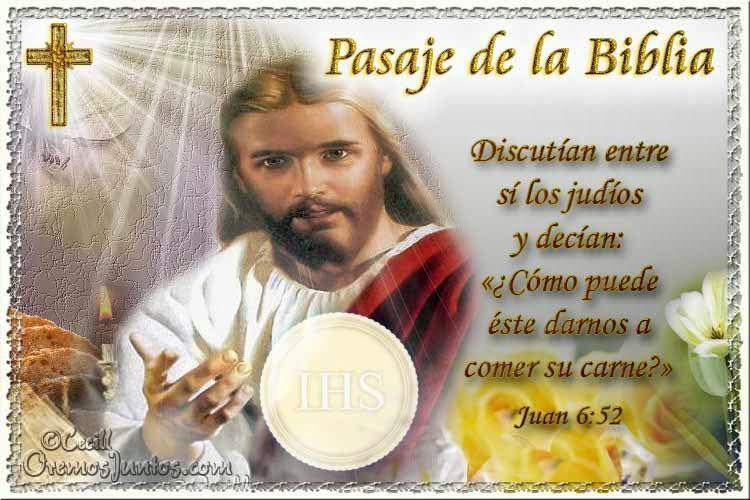 Vidas Santas: Santo Evangelio según san Juan 6:52