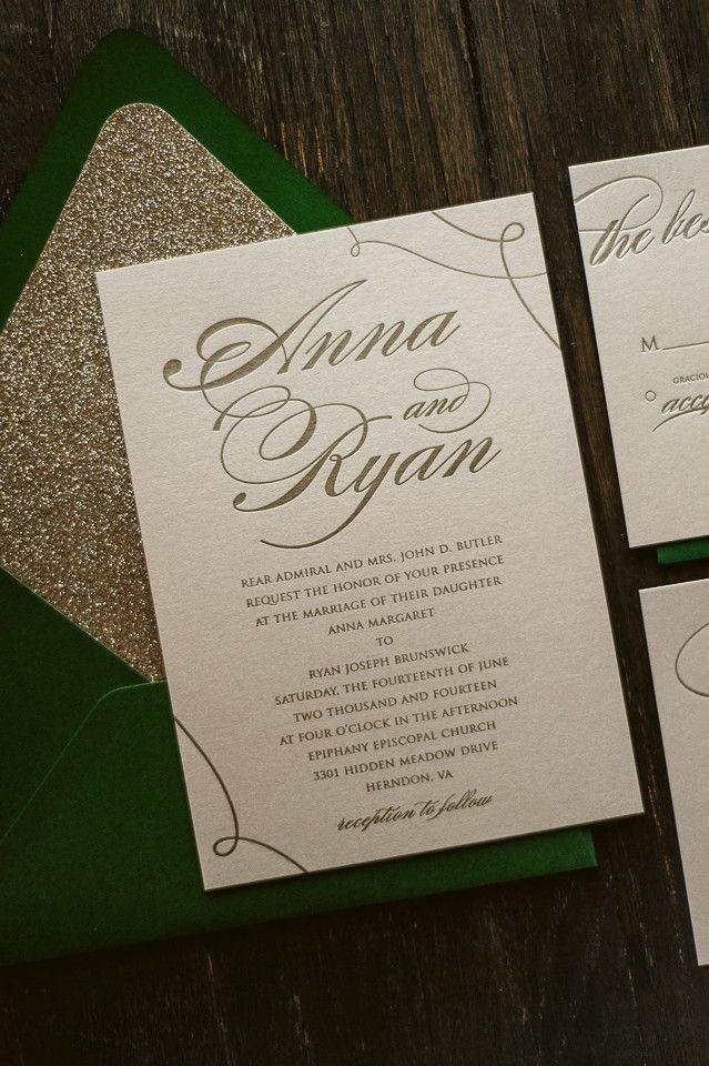 Best Selling Glitter Wedding Invitation Suite Fall Wedding Invitations Glitter Wedding Invitations Letterpress Wedding Invitations