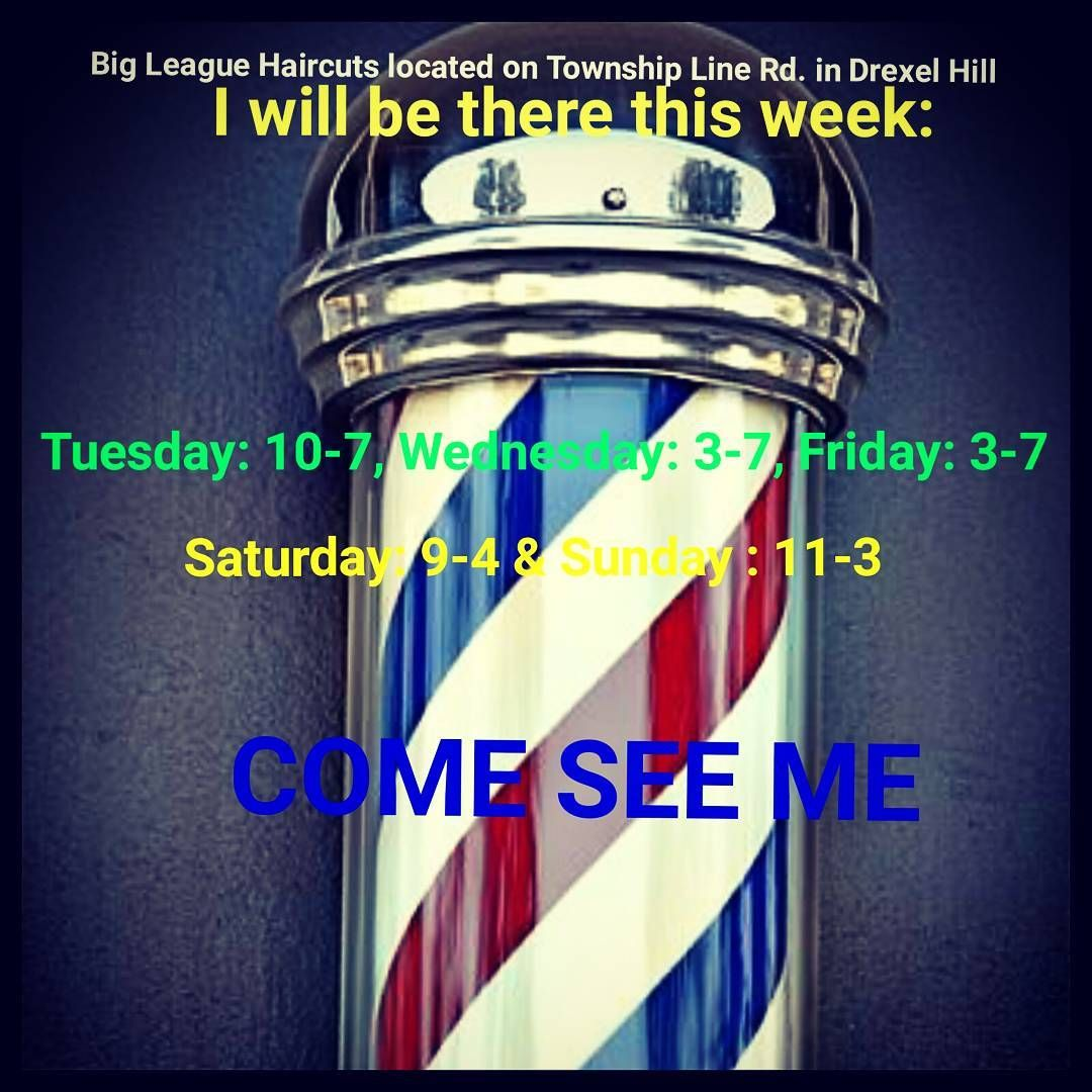 I work at Big League Haircuts. Looking to build a clientele. Come see me any of these days! #barberlife #barber #buzzcut #fades #springchange #hairstylist #cosmetology #clippercut #shears #snipsnip #byebyehair http://tipsrazzi.com/ipost/1510671262565019714/?code=BT2-4JplDBC