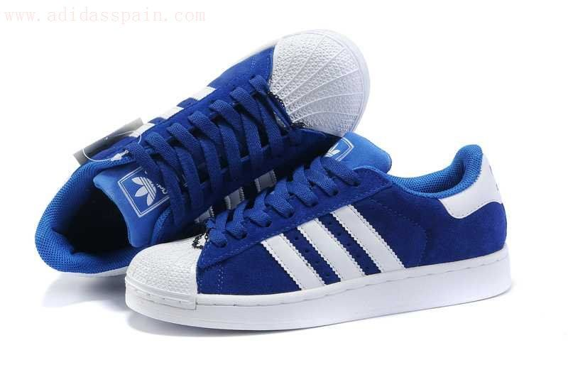 adidas superstar azules zapatos
