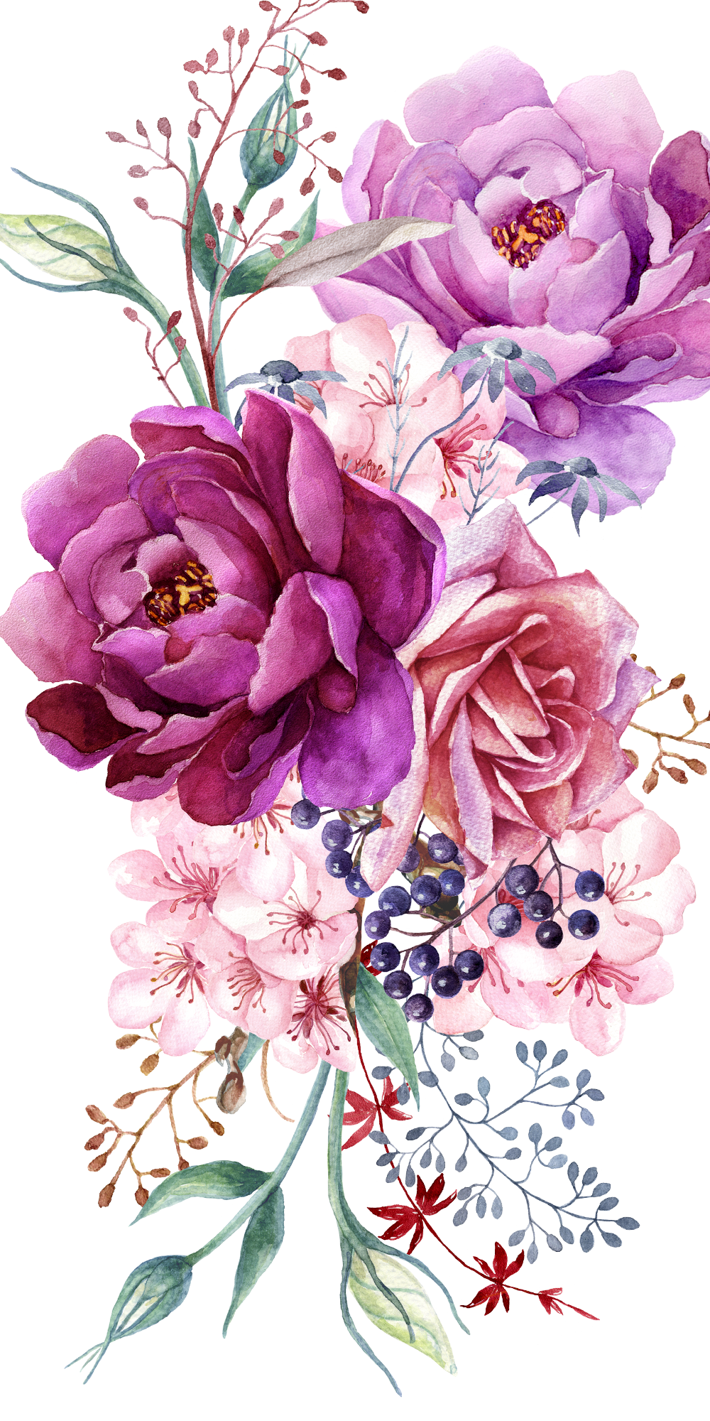 Purple peony floral bouquet. Casetify iPhone