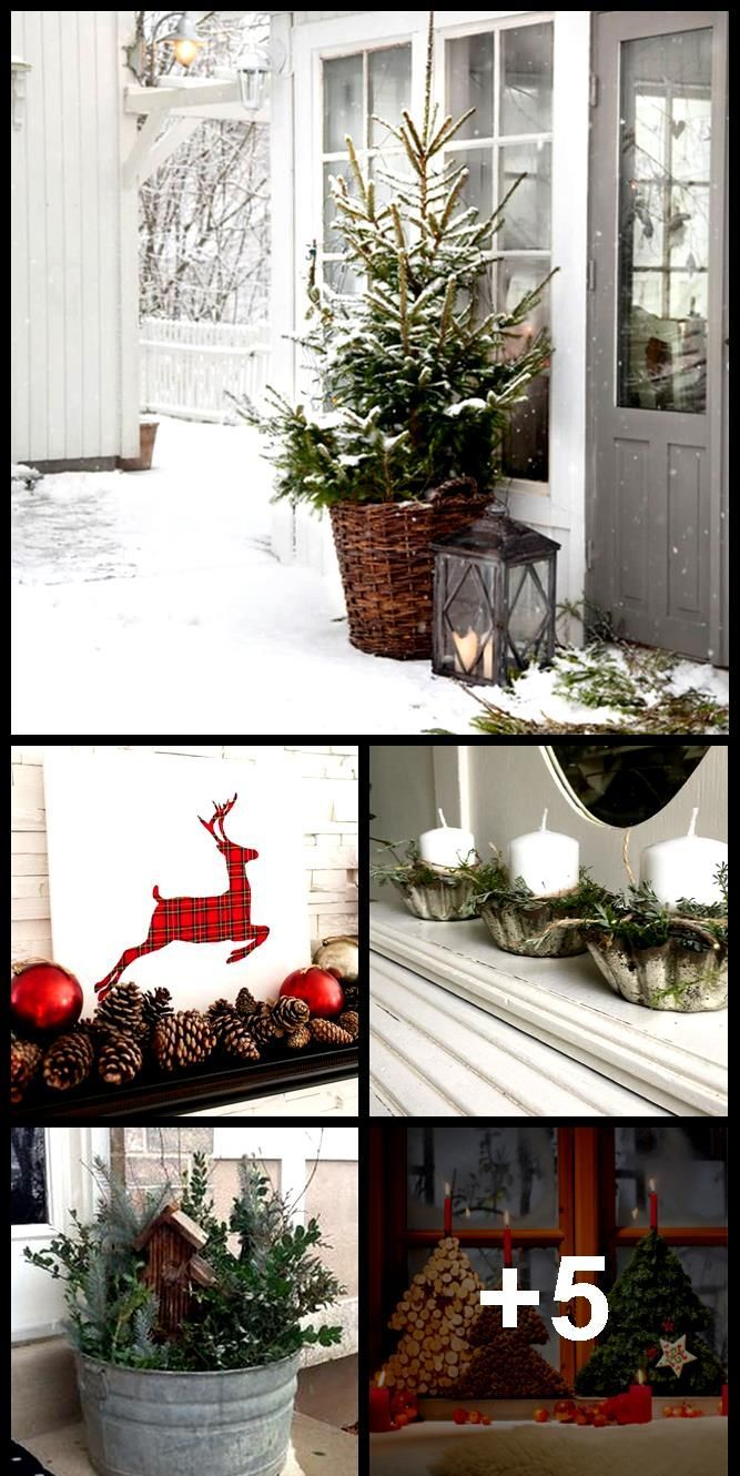 Photo of Christmas decoration for the windowsill: small winter forest