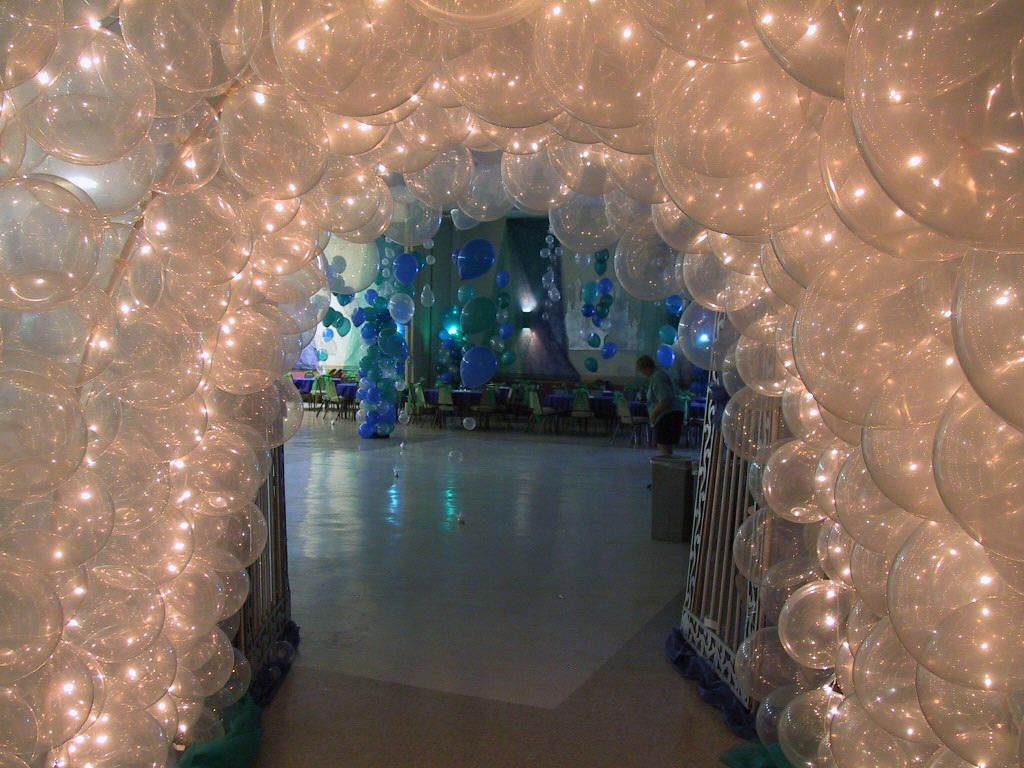 Lighted Balloon Entrance Entertaining Starry Night