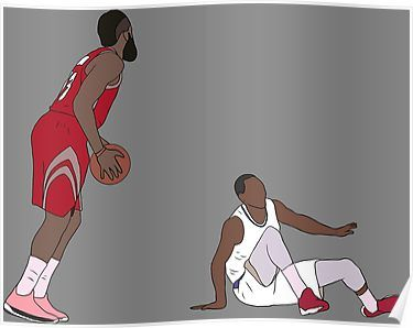 c32a3f64e2b James Harden Crossover On Wesley Johnson Poster