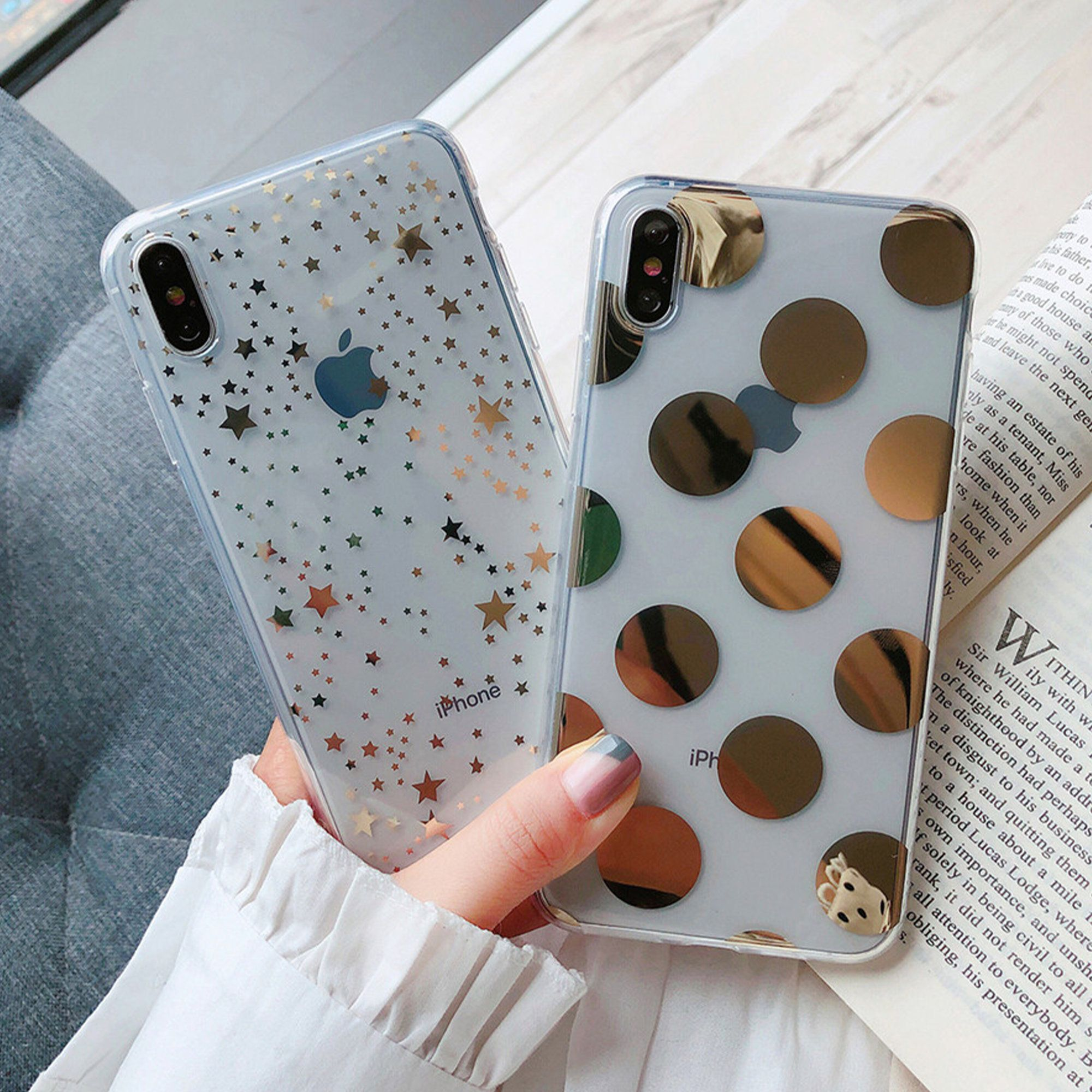 Glitter Silver Clear Case Iphone 12 11 Pattern Soft Flexible Etsy In 2021 Iphone Phone Cases Transparent Phone Case Pretty Iphone Cases