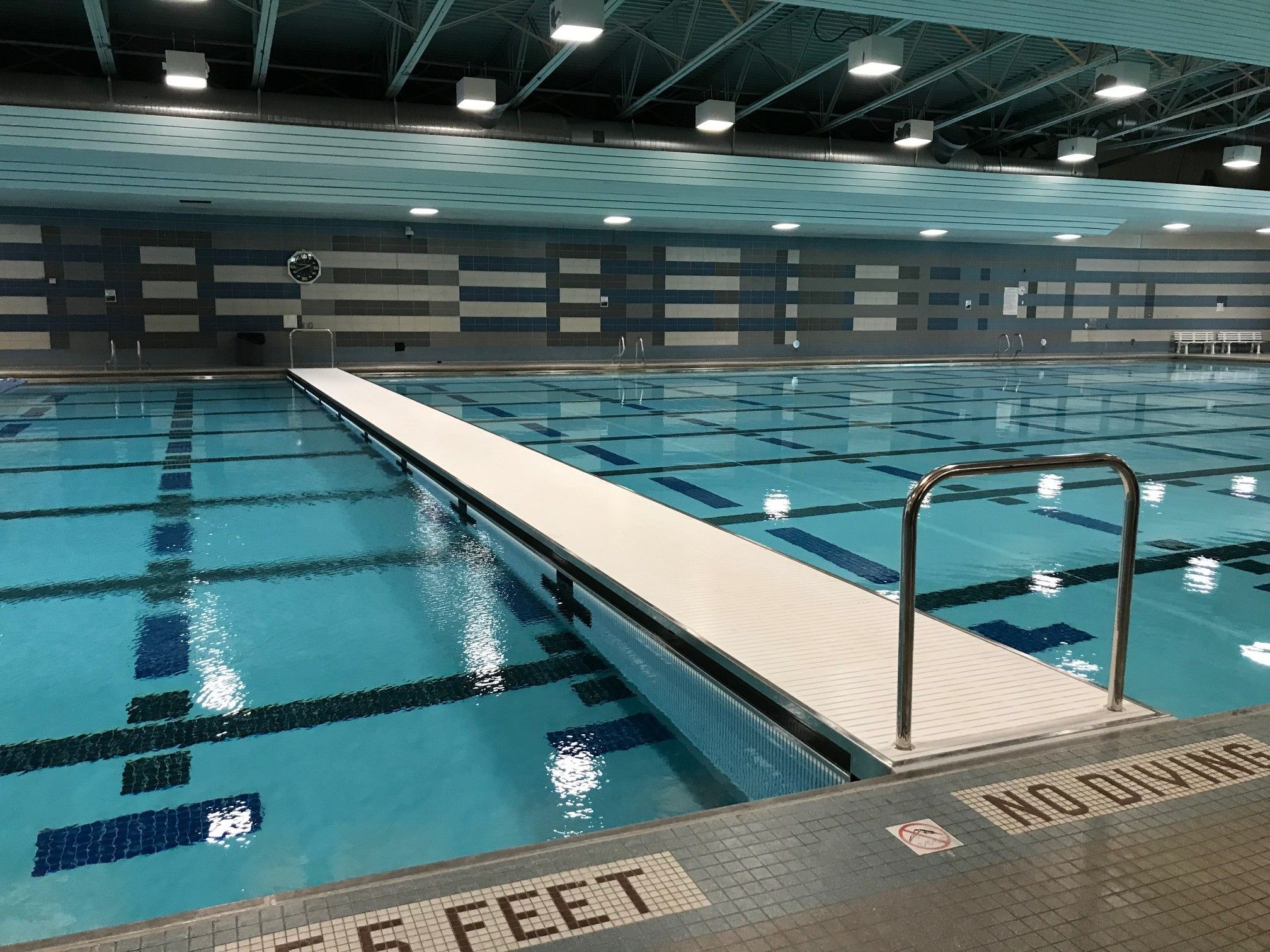 Movable Pool Bulkhead Natare Corporation Olympic Swimming Swimming Pool