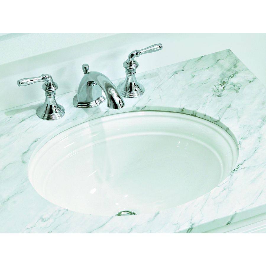 Shop Kohler Devonshire White Undermount Oval Bathroom Sink With Overflow At Lowes Com Undermount Bathroom Sink Bathroom Sink Sink