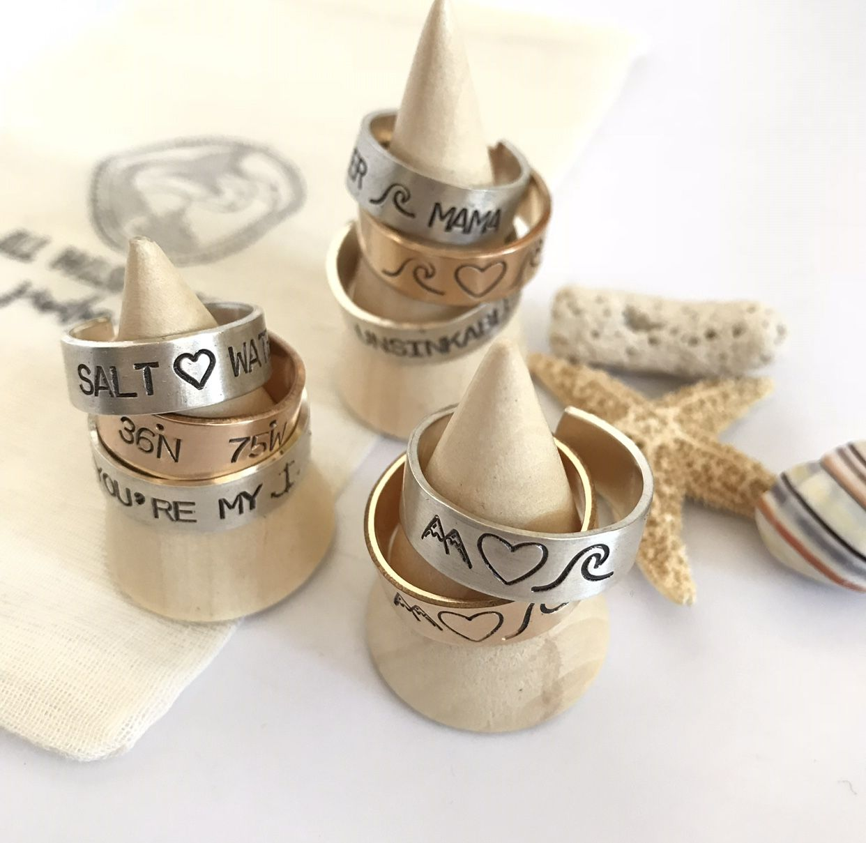 Pin by All Washed Up Jewelry on Rings | Napkin rings, Ring ...