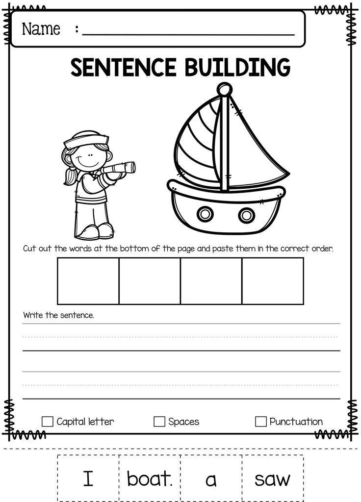june sentence building 1st 2nd grade classroom resources sentence building kindergarten. Black Bedroom Furniture Sets. Home Design Ideas