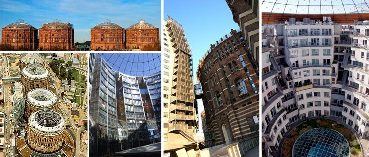 One of the most successful residential reuse projects is Gasometer City, in Vienna Austria from a structure(s) built in 1896, for large-scale coal gas & electricity supplies, the gas plant serviced the locale & beyond for a good 88 years, until it was shut down permanently in 1984 after natural gas supplies took over.The unique redevelopment is a sought after place to live with a close-knit inner community & is a very successful example of adaptive reuse.Images: Andreas Poeschek and via…