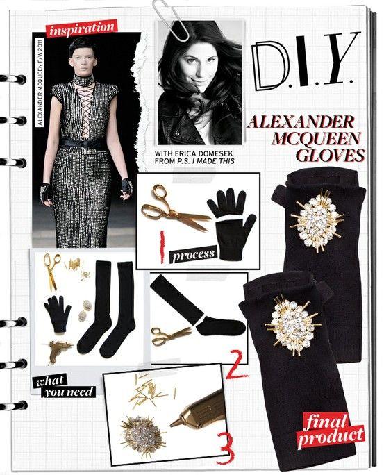 Diy mcqueen gloves diy designer pinterest mcqueen gloves and diy mcqueen gloves solutioingenieria Image collections