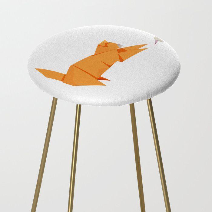 Photo of Origami Katz und Maus Küchenarbeitsplatte Hocker von Stas Khabarov – Gold