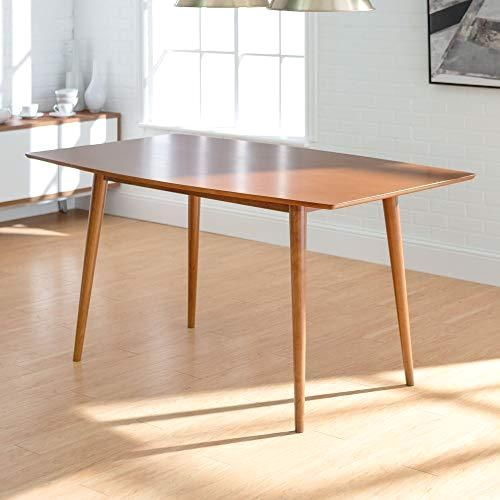 We Furniture 6 Person Mid Century Modern Wood Hairpin Rectangle