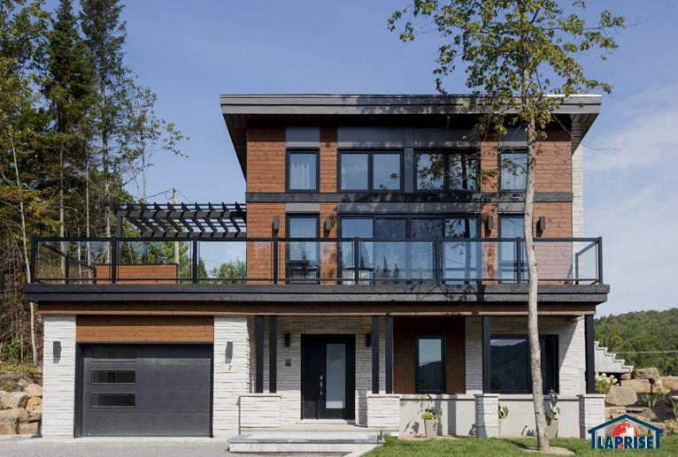 Zen contemporain lap0348 maison laprise maisons pr usin es new house build log home for Maison laprise