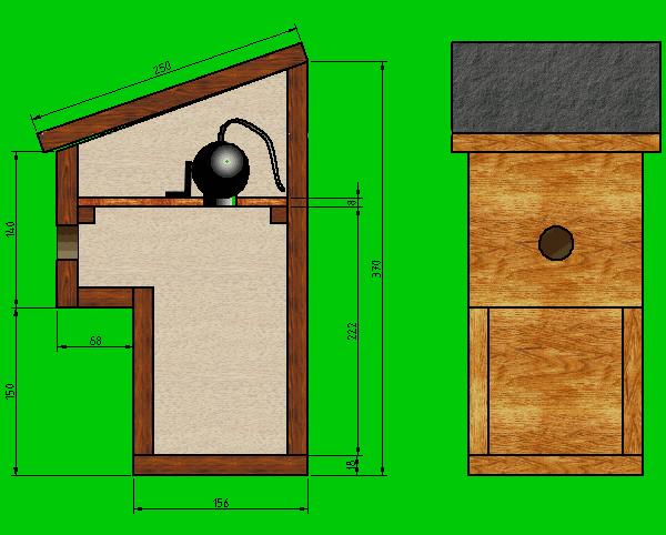 nichoir balcon avec webcam nichoirs pinterest bird houses bird feeder and birdhouse. Black Bedroom Furniture Sets. Home Design Ideas