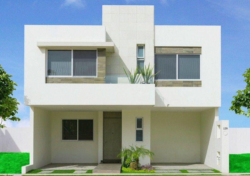 Fachadas de casas minimalistas de 2 pisos casa pinterest for Fachadas de casas minimalistas