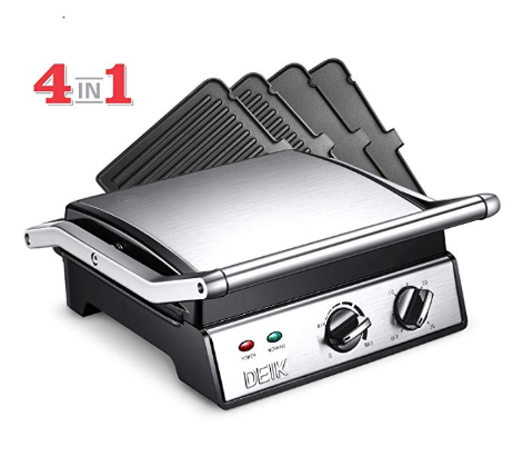 Deik Electric Contact Grill Griddle 6 In 1 Smokeless Indoor Grill