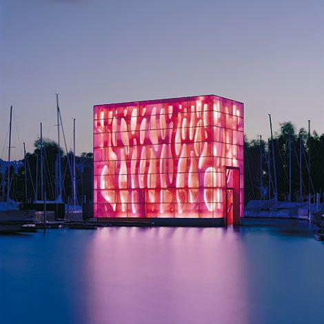 eclairage d 39 immeuble contemporary architecture architecture contemporaine outdoor lighting. Black Bedroom Furniture Sets. Home Design Ideas