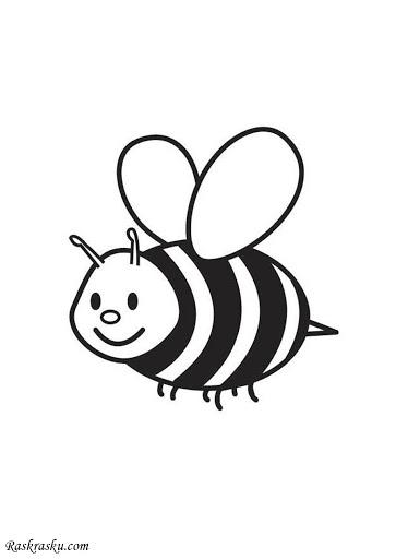раскраска пчёлка – Google Поиск в 2020 г | Раскраски с ...