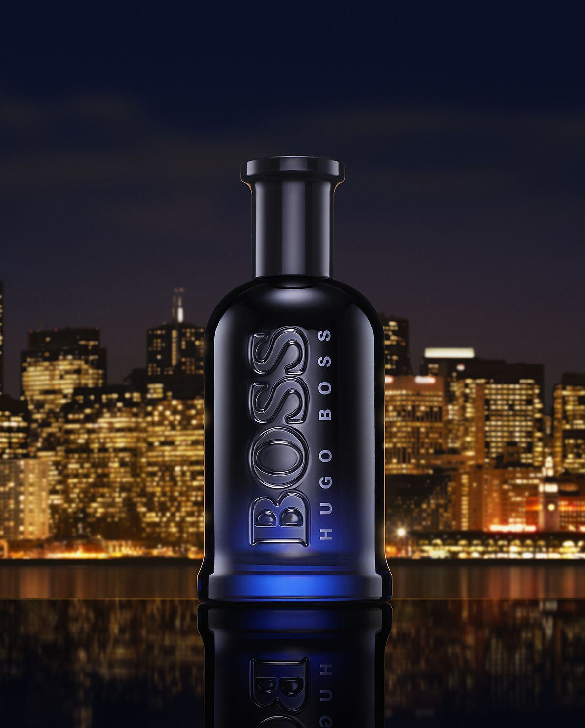 Bottled Night Skyline P Jpg Perfume Photography Hugo Boss