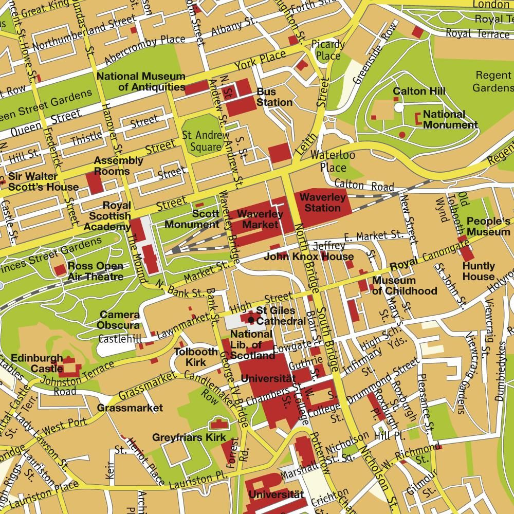 Edinburgh Scotland Tourist Map Edinburgh mappery – Scotland Tourist Map