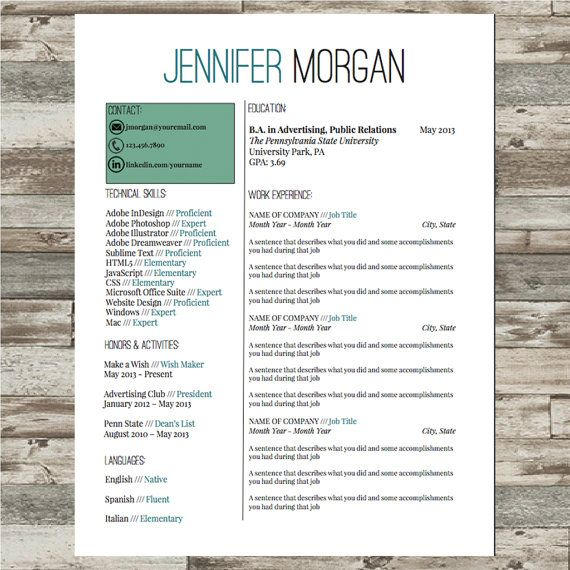 Resume Template Professional Cv Template Microsoft Word Instant