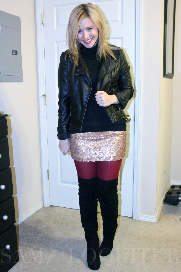 06819b80be Adorable fall outfit! Leather jacket
