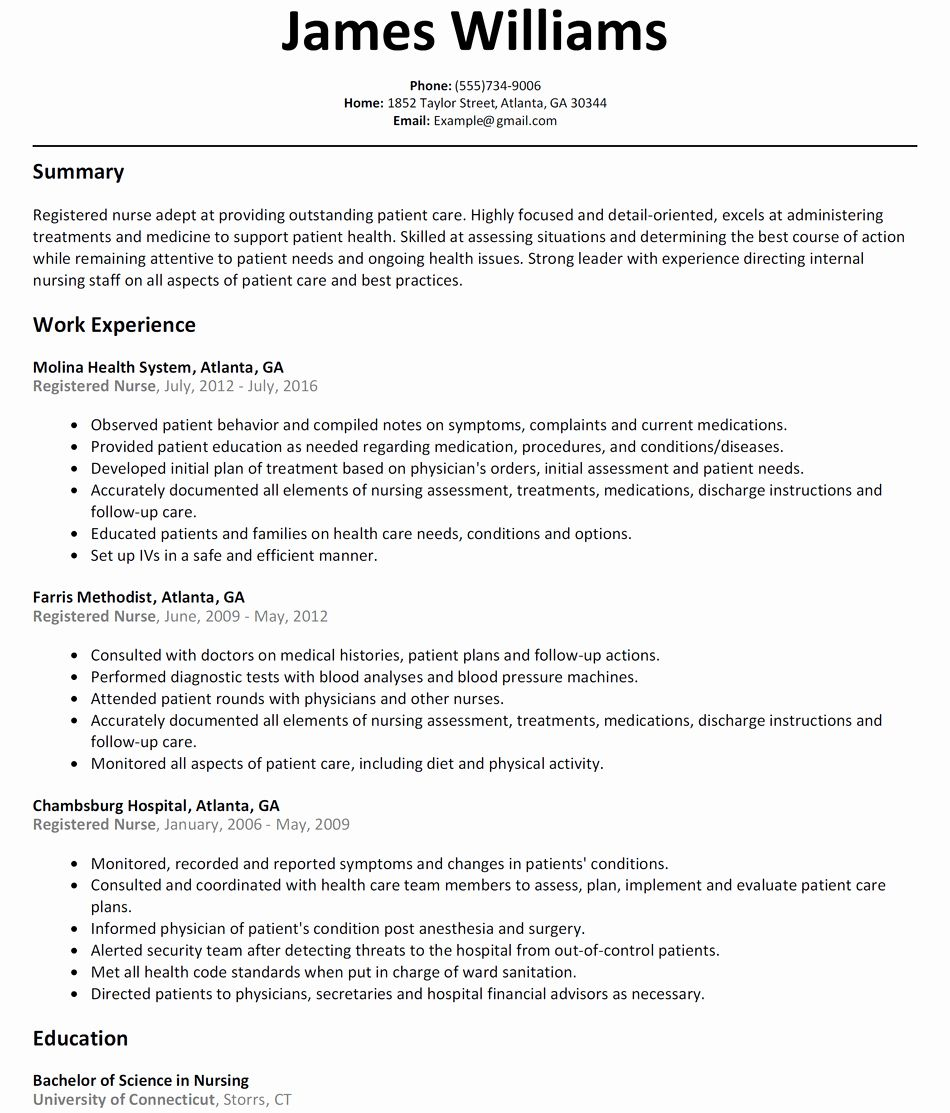 Nursing Clinical Experience Resume New Resume for