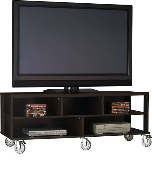 Flat Screen Tv Stands On Wheels Entertainment Bar In