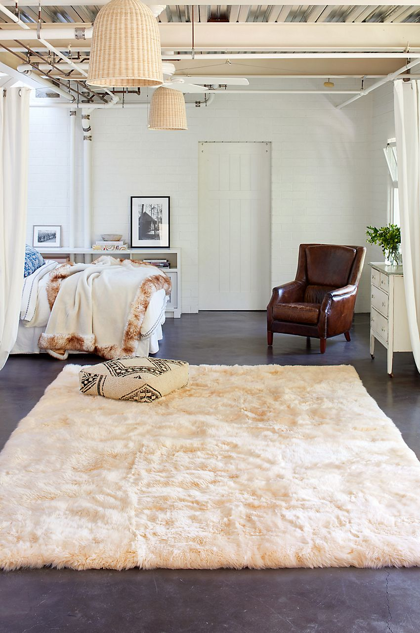 And This Longwool Sheepskin Beauty Is No Exception Made Of Premium Australian Sheepskin Free Shipping Returns Sheepskin Rug Home Rugs #no #rugs #in #living #room