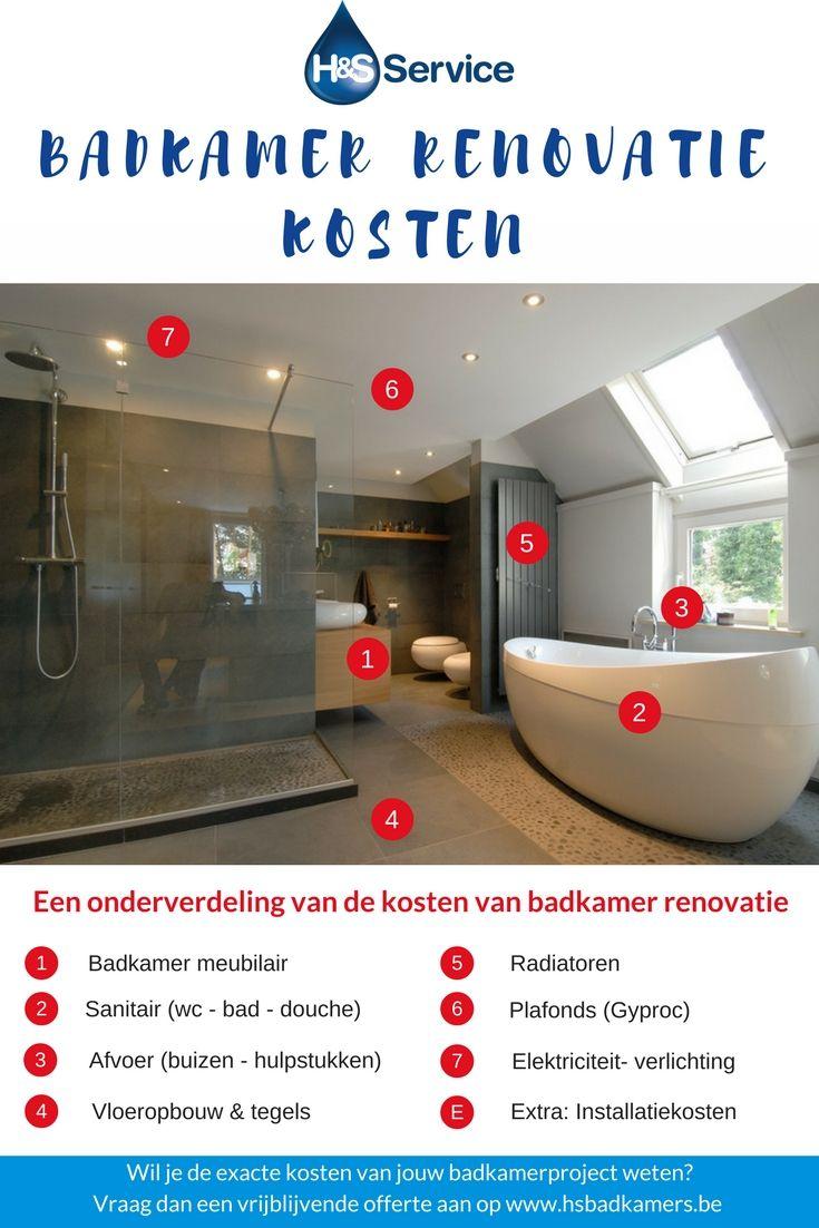 badkamer #renovatie #kosten Hoeveel kost het om een badkamer te ...