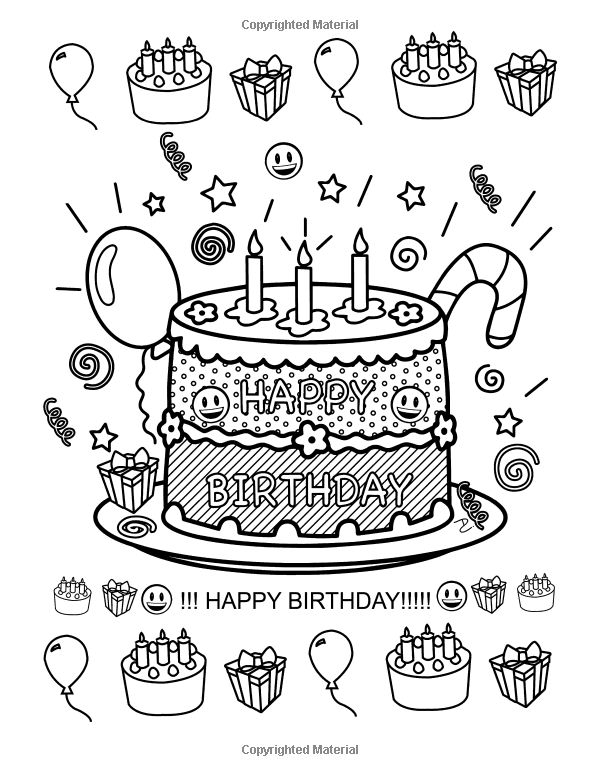 Emoji World Coloring Book 24 Totally Awesome Coloring Pages Dani Kates 9781523935697 Amaz Coloring Pages Happy Birthday Coloring Pages Emoji Coloring Pages