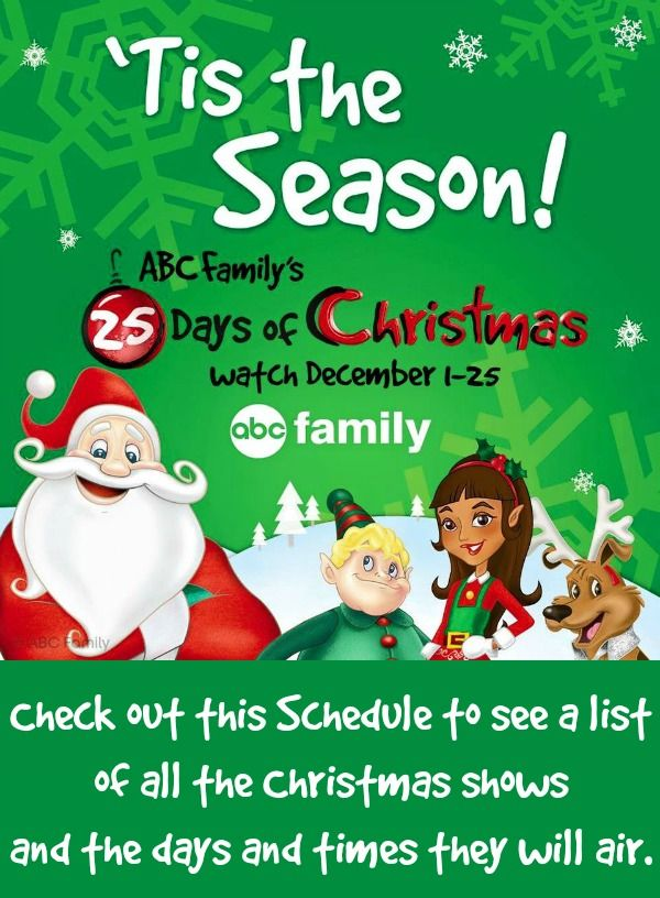Abc Family S 25 Days Of Christmas Schedule 2015 Enjoy These