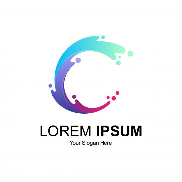 Letter C Logo Design Logo Design Lettering Logo Design Typography