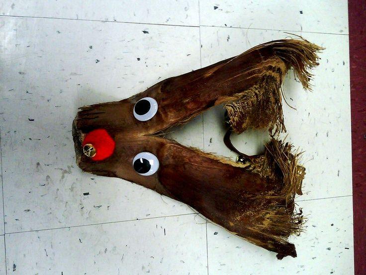 Pin By Whitney Reynolds On Teacher Stuff Pinterest Palm Frond Art Holiday Crafts Reindeer Craft