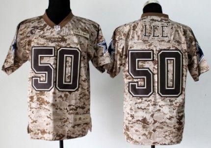 new product c939e ae4c9 Nike Dallas Cowboys #50 Sean Lee 2013 USMC Camo Elite Jersey ...