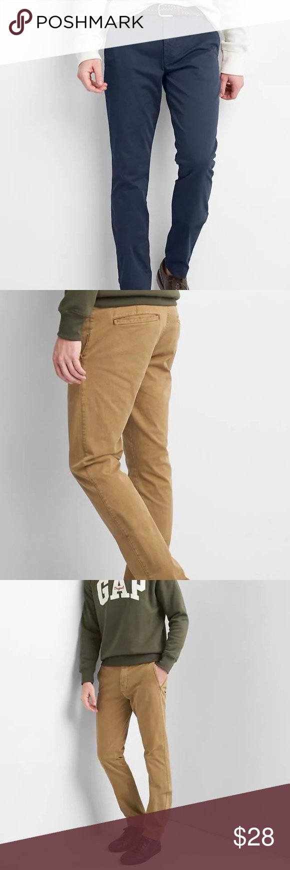 what colors to wash khakis with