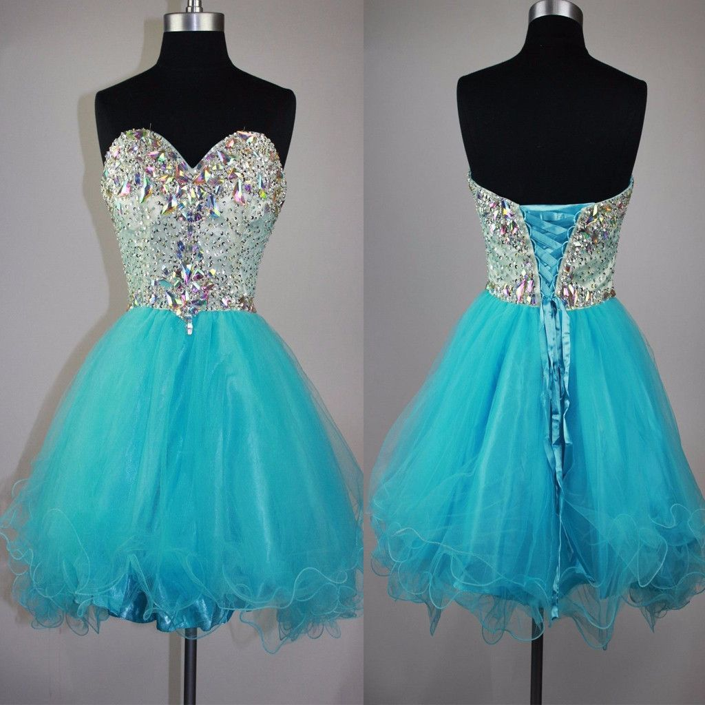 Strapless sweetheart mismatched sparkly mini cute for teens cocktail