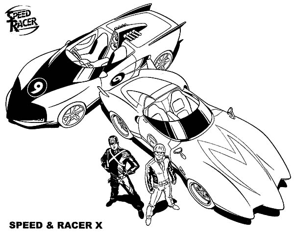 The Famous Speed And Racer X From Speed Racer Coloring Pages Best Place To Color Speed Racer Speed Racer Cartoon Coloring Pages