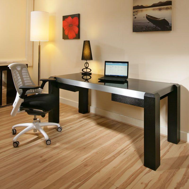 Modern Designer Desk Work Station Black Oak Withglass Top 1 8 Mt In 2020 Home Office Furniture Desk Office Furniture Design Modern Office Design