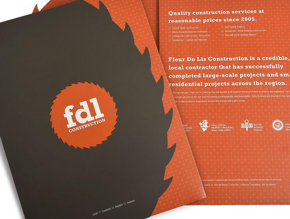Fleur De Lis Construction Sales Kit Design With Images Construction Services Local Contractors Construction