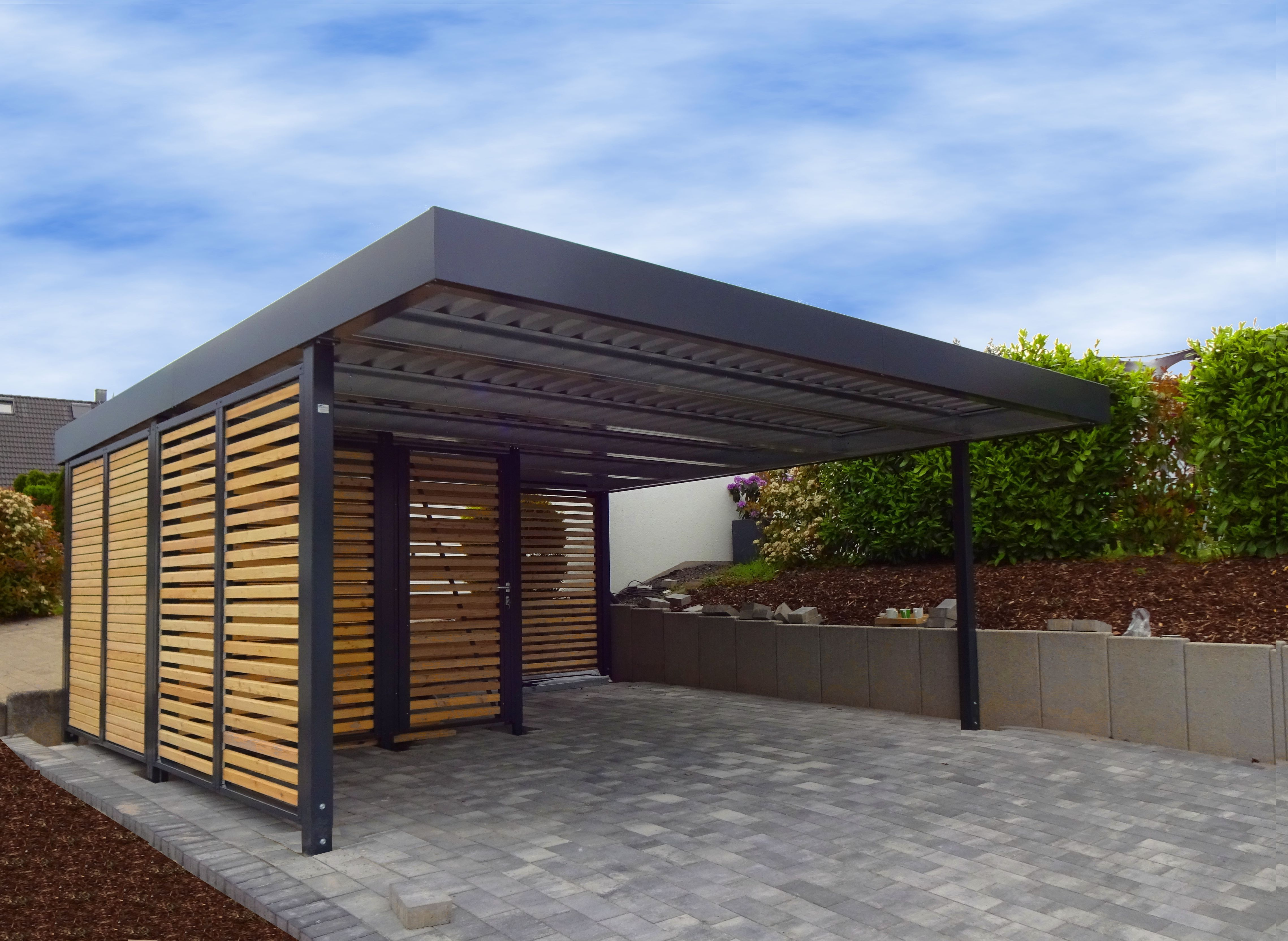 MyPort double carport with tool shed en 2020 | Abri voiture