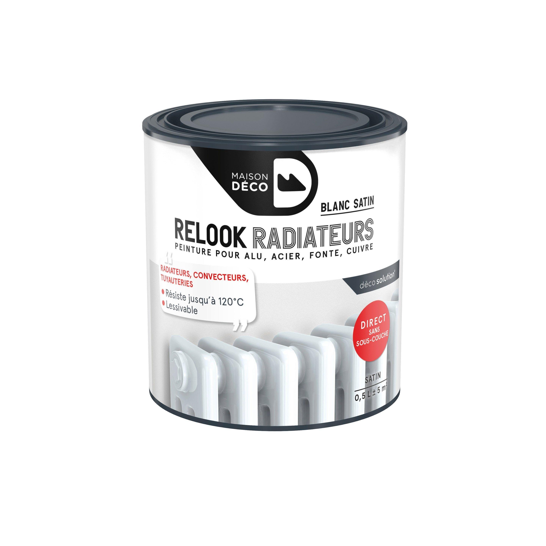 Peinture Relook Radiateurs Maison Deco Blanc Satine 0 5 L En 2020 Deco Blanche Radiateur Et Relooking