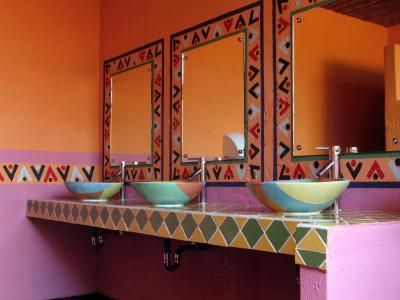 Cuarto De Baño Estilo Méxicano   Mexican Style Bathroom ~ Blending Of  Spanish European Architecture And